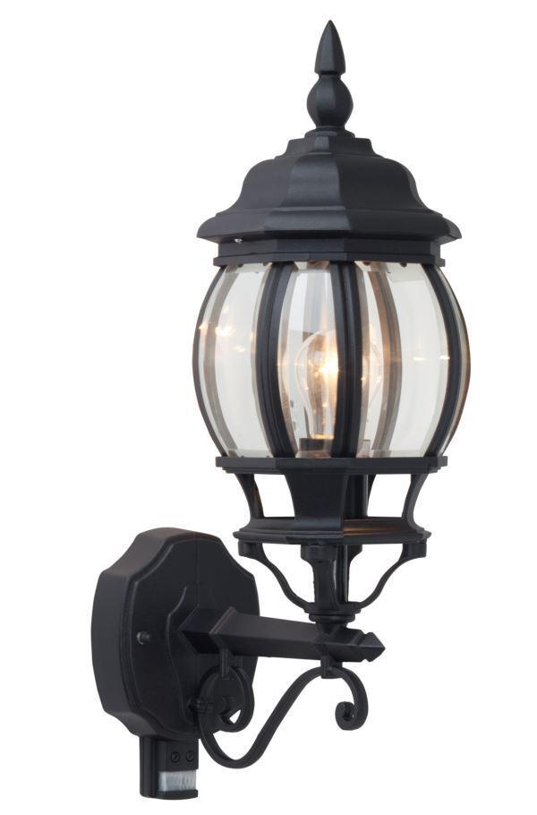 Lámpara exterior parojo lámpara de parojo lámpara con detector de movimiento Istria negro nuevo
