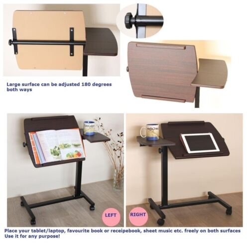 Rolling Laptop Desk Over Sofa Bed Table Stand Angel Adjustable Mobile Cart BR
