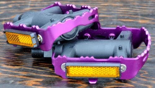 "Purple LoDo2 FiXiE RoadBike Pedals 9//16/"" Vintage FixedGear Track Cruiser Bicycle"