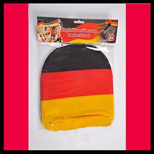 2x Auto Kopfstützenbezug Deutschland Set Kopf Stütze