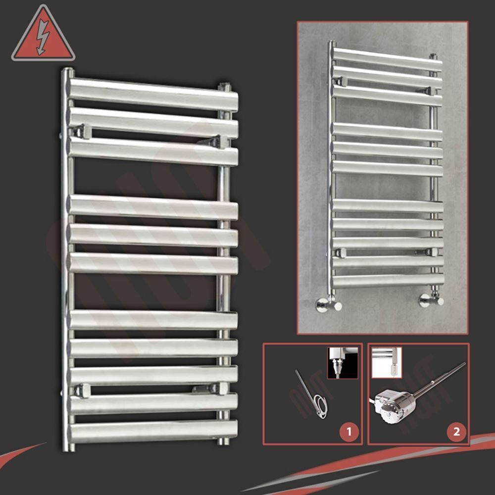 500mm(w) x 930mm(h) Pre-Filled Electric  Brecon  Chrome Towel Rail - 300W