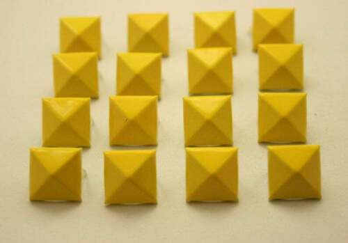 2 pcs.Yellow Pyramid Studs Biker Spikes