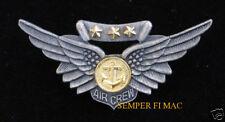 AIRCREW COMBAT WING PIN UP US NAVY MARINES USS BADGE AC CREW MCAS NAS MAW WOW