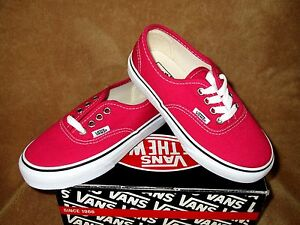 45e1015f3a Image is loading NEW-VANS-AUTHENTIC-SHOE-BRIGHT-ROSE-WHITE-YOUTH-