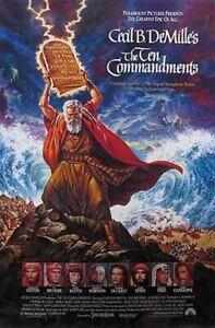 Die Ten Commandments (1989 Neuveröffentlichung) Original Filmposter