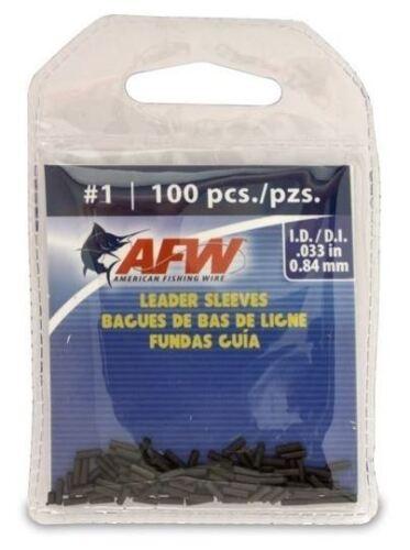 AFW #1 Black Leader Sleeves .033 in #J01B-B 100 PACK SINGLE BARREL .84 mm NEW