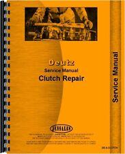deutz allis d3607 tractor clutch service manual ebay rh ebay com deutz tractor workshop manuals Alligator Crawler Tractor Repair Manual