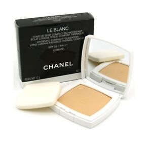 Image is loading CHANEL-LE-BLANC-WHITENING-COMPACT-FOUNDATION-LONG-LASTING- aaf5c45fcc05