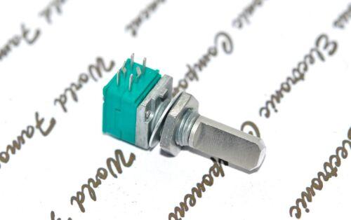 1pcs RK09712200FS ALPS RK09 50KA Volume Dual Potentiometer Half Shaft