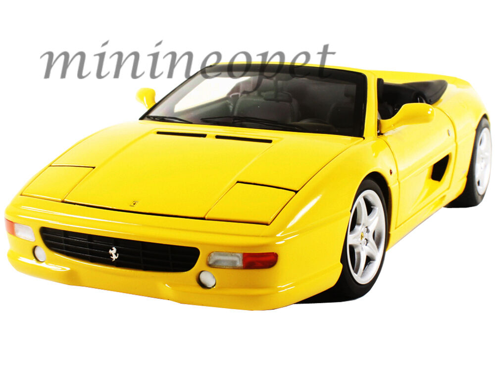 HOT WHEELS ELITE BLY35 FERRARI F355 SPIDER CONverdeIBLE 1 18 DIECAST MODEL giallo