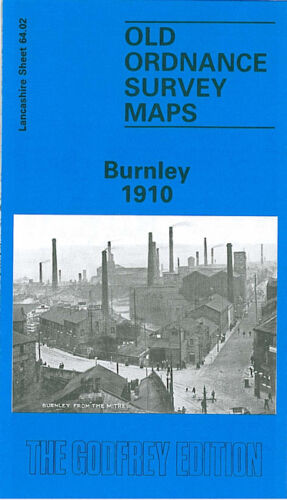 OLD ORDNANCE SURVEY MAP BURNLEY 1910 COG LANE MONTAGUE ROAD BANK HALL COLLIERY