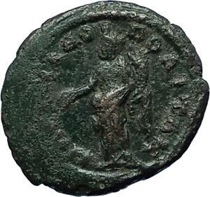 ELAGABALUS-218AD-Marcianopolis-Authentic-Ancient-Genuine-Roman-Coin-TYCHE-i66335