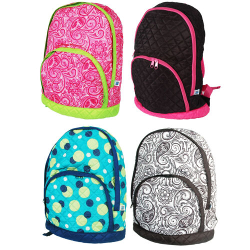 12 COLORS QUILTED GIRLS BACKPACK KIDS SCHOOL PLAY NEW BACK PACK