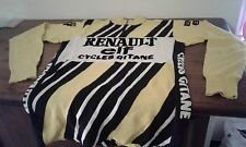STUPENDA MAGLIA CICLISMO SHIRT VINTAGE CYCLING RENAULT ELF WOOL '70/80.MAGLIERIA