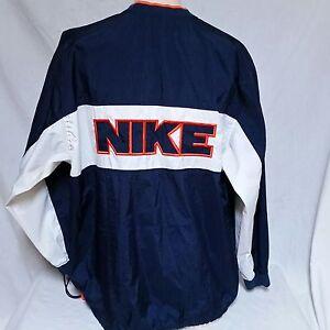 873dfc69c6 VTG Nike Pullover Windbreaker Jacket Spell Out 90s Coat Jordan Air ...