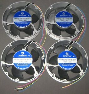 4 X 172mm Dia. Round DC Fan  x 51mm - 250 CFM - 24 V - 3350 RPM - PM240-24D