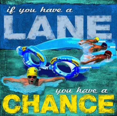 Youth Swimming HAVE A LANE Swimmer Motivational Inspirational Poster Print
