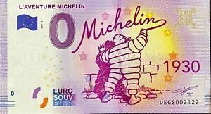 BILLET-0-EURO-L-039-AVENTURE-MICHELIN-1930-FRANCE-2017-1-N-SUITE-2122