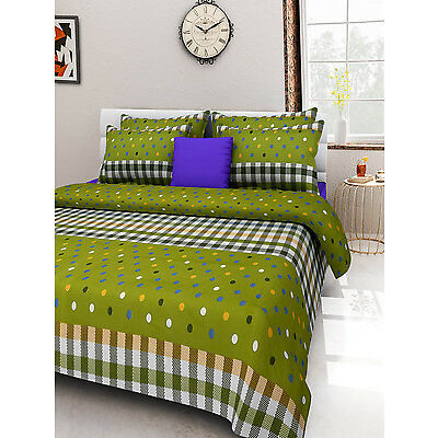 Homefabs 100% Cotton Double Bed Sheet with 2 Pillow Covers (DBS 055)