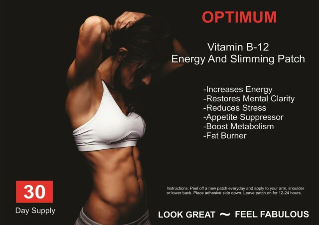 Vitamin B12 Guarana Energy Patch For Alertness More Energy Weight Loss  Fatigue