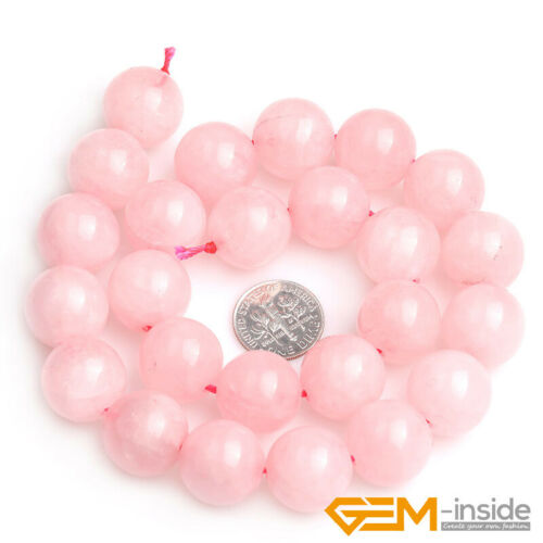 "Natural Rose Quartz Gemstone Round Beads 15/"" 3mm 4mm 6mm 8mm 10mm 12mm 14mm 16mm"
