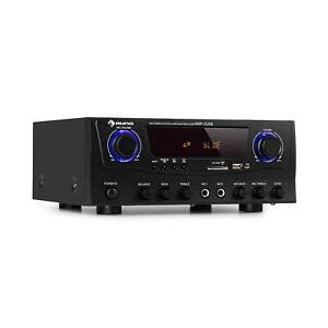 Amplificatore Stereo Audio Bluetooth Hi Fi 2x50W USB Nero