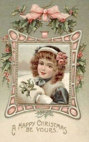 Handmade In The USA Vintage PINK CHRISTMAS CARDS DIE CUTS Gift Tags 24 Pieces