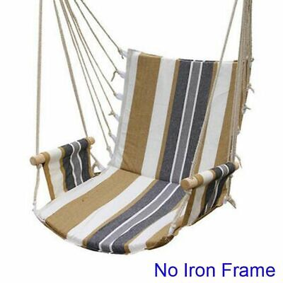 Garden Swing Canvas Two Person Beach Hammocks Outdoor Furniture Hanging Chair Ebay