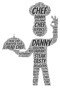 Image Is Loading Personalised Word Art Print Chef Cook Restaurant Birthday