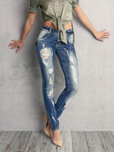 a strappati Alina da bassa Jeans Jeans sexy skinny Fori Pantaloni Xxs Da jeans donna vita Jeans s vd1nxEq0