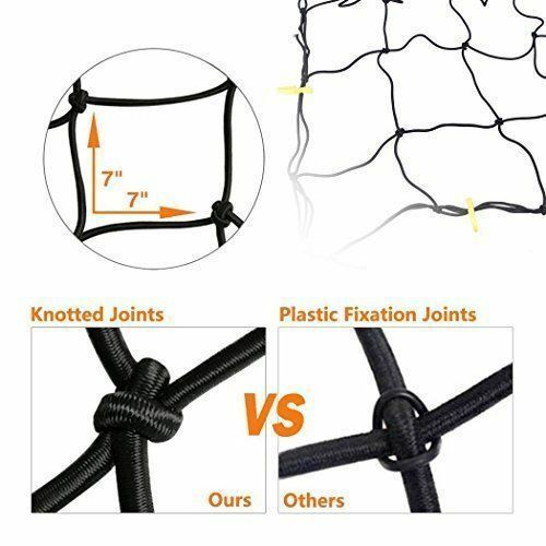 """Cargo Net Bed Tie Down Hooks for Nissan Frontier Mid Size Long Bed 60/"""" x 98/"""" NEW"""