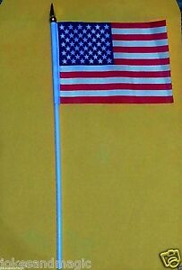 144 mini American Flag U.S.A.small flags 4x6 patriotic flag wholesale
