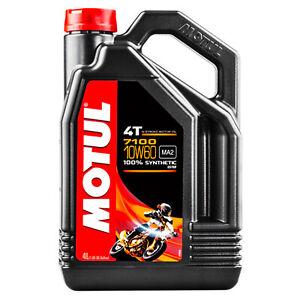 4-LT-Litri-Olio-Motore-Moto-Motul-4T-7100-10W60-MA2-100-Sintetico