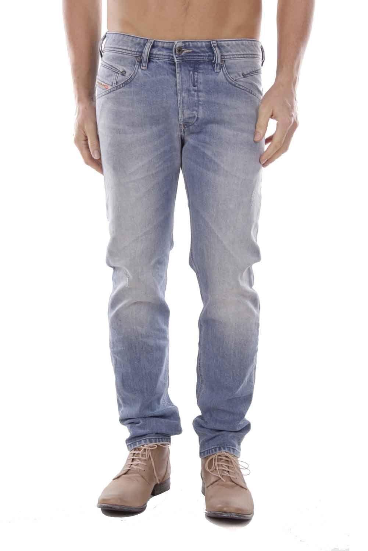 DIESEL BELTHER r8u48 Jeans Uomo Pantaloni Pantaloni Pantaloni Regular Slim Straight edd4a5
