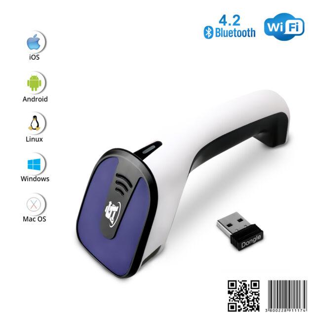 1D/2D Wireless Bluetooth Barcode Scanner: 3-in-1 Handheld, USB QR Code  Reader