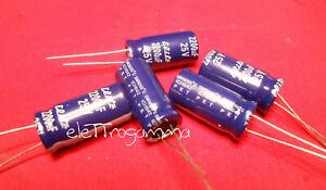 5 pezzi 5Pz 220uF 63V Condensatori Elettrolitici