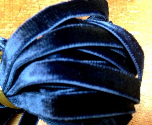 "VINTAGE 3//8/"" VELVET ribbon RAYON 3 yds Made in France"