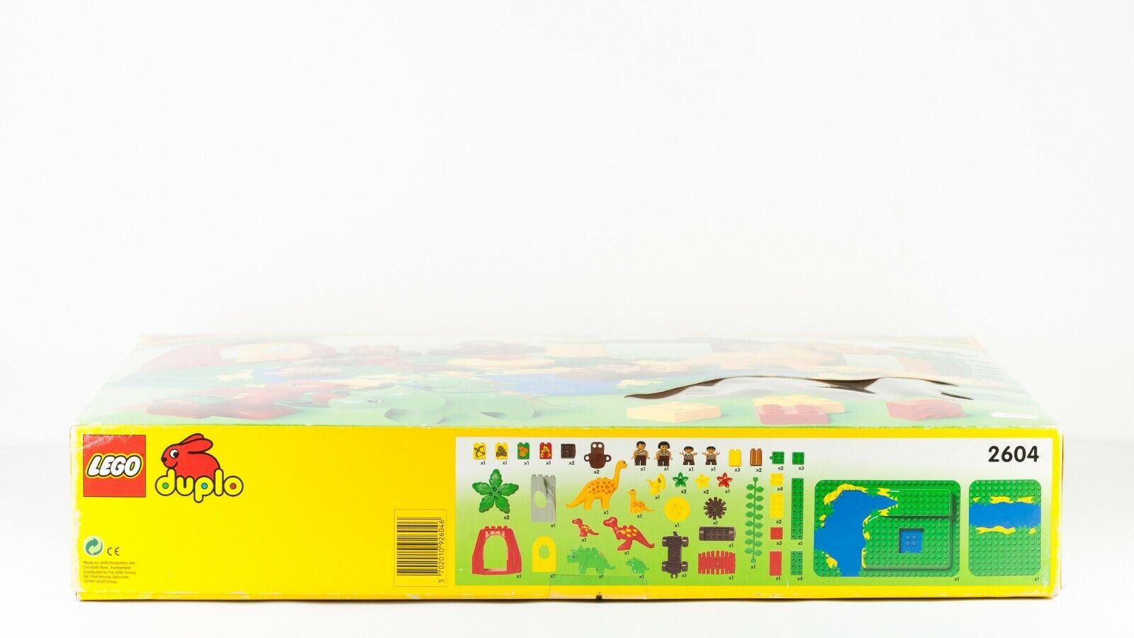 VINTAGE LEGO Rare Duplo Dinosaur Set 2604 Dino Dino Dino World Caveman 21  HUGE SEALED 67708d