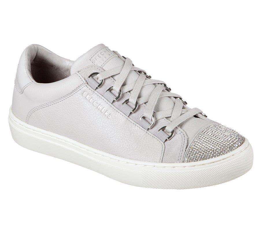 Skechers De Cuero gris Bucle de Metal de cuña de subida Fit Pedrería WMS Zapatillas Nuevo Con Etiquetas