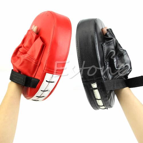 Boxing Mitt Training Focus Target Punch Pad Glove MMA Karate Combat Thai Kick