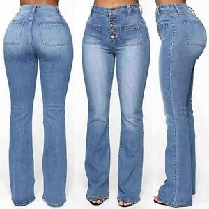 Pantalon Jean De Moda Pantalones Mujer Colombianos Levanta Cola Cintura Alta Ebay