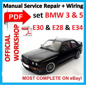 official workshop manual service repair for bmw e30 e28 e34 1992 rh ebay co uk Haynes Manuals for 2003 Jeep Haynes Manuals for 2003 Jeep