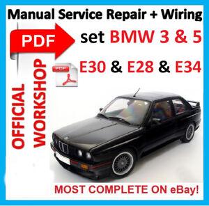 official workshop manual service repair for bmw e30 e28 e34 1992 rh ebay com BMW 7 Series BMW 6 Series