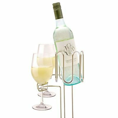 Bartender - Picnic Wine Stakes - Wine Bottle and 2 x Glass stakes