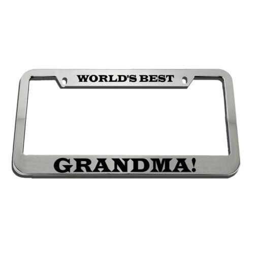 World/'S Best Grandma License Plate Frame Tag Holder