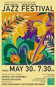 0630-Vintage-Music-Poster-Art-Herb-Patnoe-Jazz-Festival