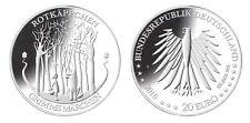 """2016: 20 Euro Silber-Gedenkmünze Grimms Märchen """" Rotkäppchen """"  Silber 925/1000"""