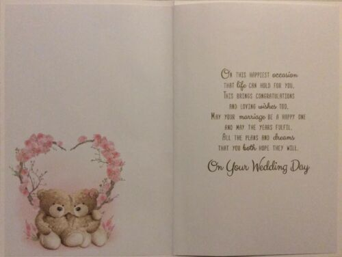 GRANDSON AND WIFE WEDDING DAY CARD