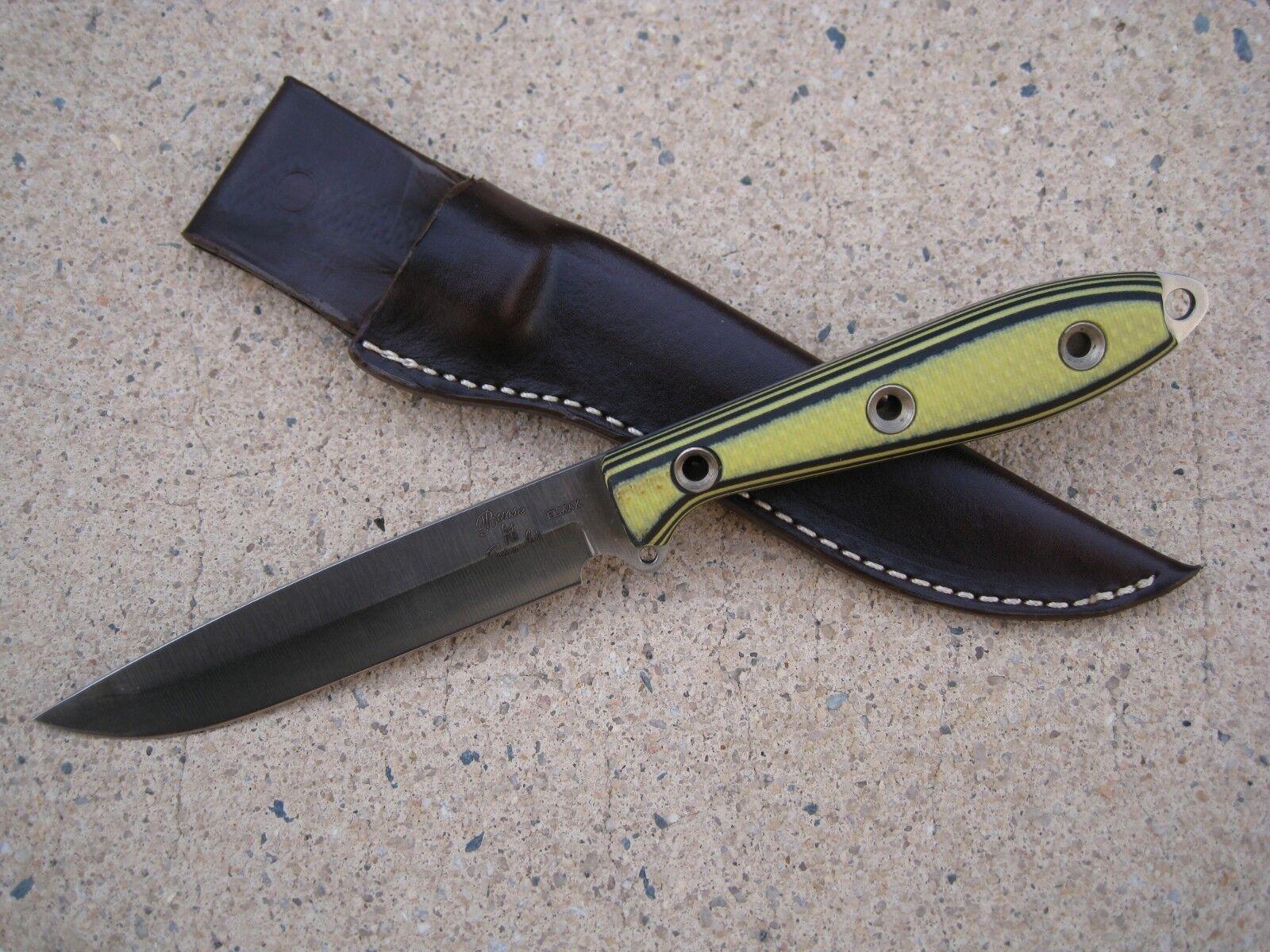Busse Combat ELMAX Steak Knife Custom Molded Leder Sheath braun USA