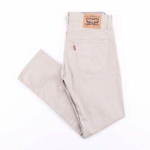 Vintage-Levi-039-s-511-Slim-Straight-Fit-Herren-Beige-Jeans-w31-l30